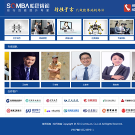 松巴企业打点咨询(上海)有限公司网站项目