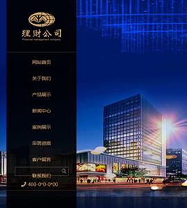 金融类企业网站